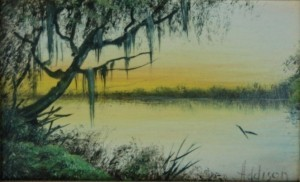 Addison, W. C. St. Petersburg. Anclote River. Oil on board, 3 one half by 5 one half inches.