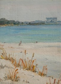 Ahl, Henry Curtis. Fort Matanzas, St. Augustine, Fla. Oil on board, 9 by 12 inches.