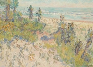 Allen, Anna Elizabeth, Sand Dunes of Florida. Oil on board, 12 by 16 inches.
