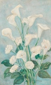 Anderson, Loulie. Tampa. Oil on canvas, 18 by 29 inches. Reads, Presented to Loulie R. Anderson at close of her term as president of the Tampa Art Institute at May luncheon, 1953.