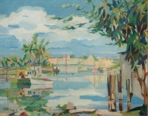 Anderson, Tores. Salt Creek, St.Petersburg, Fla. Oil on canvas, 16 by 20 inches.