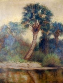 Austrian, Ben. Near Jupiter, Palm Beach, Florida, 1915. Oil on board, 10 one half inches by 13 one half inches.