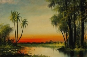 Baranowski, A. Miami. Oil on board, 20 by 30 inches.