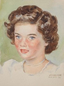 Becker, H. O. Miami Beach, 1948. Watercolor, 9 by 12 inches.