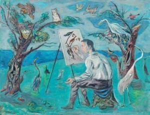 Blanch, Arnold. Key West. Painter of Birds, Audubon. 1944. Oil on canvas 28 by 36 inches.