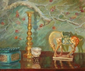 Bollin, Leone, C. Still Life. Oil on canvas, 20 by 24 inches. Coral Gables, 1950.
