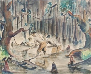 Bonsack, Tack. Swamp Rats, Florida Federation of Art 14 th Annual Exhibition, 1940. Watercolor, 18 by 21 one half inches.