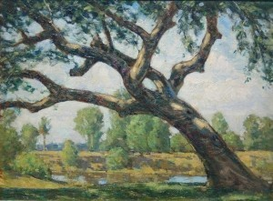 Brown, Horace. Live Oak, Coral Gables, 1942. Oil on board, 12 by 16 inches.