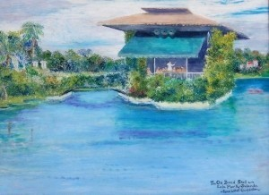 Carpenter, Rene Littell. Orlando. The Old Band Shell, Eola Park. Oil on board, 18 by 24 inches.