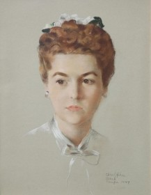 Clark, Christopher. Tampa, 1944. Pastel, 13 by 17 inches.