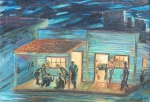 Coconut Grove, Hell House in Shanty Town, Coconut Grove-Miami, 1930. Oil on canvas, 24 and one quarter by 34 and three eights inches.