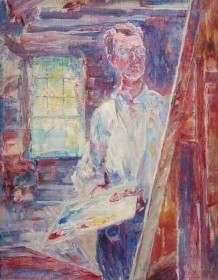 Coe, Theodore. Tampa. Self portrait, 1924. Oil on canvas, 18 by 23 inches.