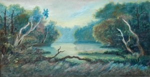 Conley, John F. St. Augustine. Green Cove. Oil on board, 15 by 28 one half inches.