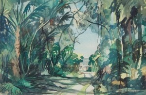 Cooley, Dixie, Clearwater Bay, 1948. Watercolor, 15 by 22 inches.