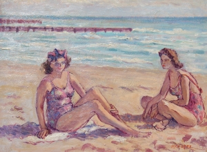 Cooper, Margaret Miller. Miami. Oil on board, 12 by 16 inches.