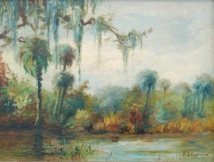 Copson, Orton. St. Petersburg. Oil on board, 12 by 17 and three quarters inches.
