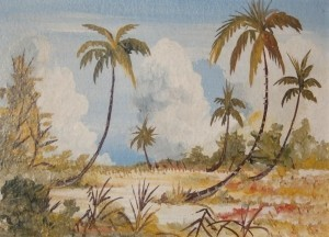 DiNegro, Paul. Key West . Oil on board, 5 and one half by 8 inches.