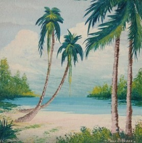 DiNegro, Paul. Key West. Oil on board, 10 by 10 inches.