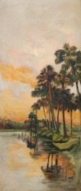 Dunkin, Alice Barton. Oil on board 13 by 29 inches. Signed Mrs. Dunkin, St. Cloud, Fla.