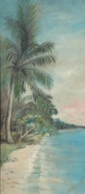 Dunkin, Alice Barton. St. Cloud. Along the Florida Coast. Oil on board, 13 by 29 inches.