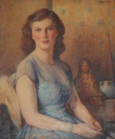 Fink, Denman. Miami. Oil on canvas, 25 by 30 inches. Willie Jane Frost, 1943. Painting appeared in Miami Herald, February 25, 1945