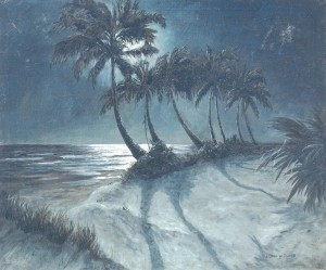Fischer (Fisher) Urlrick. Palm Beach. Oil on can vas, 30 by 36 inches.