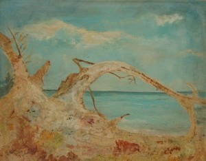 Foster, Allison Dodds. Storm-Hobe Sound. Oil on wood, 8 by 10 inches.