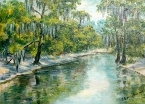 Frank, Elise. Tampa. The Hillsbrough River. Oil on FRANK, ELISE. TAMPA. THE HILLSBROUGH RIVER.
