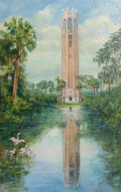 Frank, Elise. Tampa. The Singing Tower at Lake Wales. Oil on board, 10 by 15 inches.