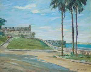 Fritz, Emmitt. Castillo de San Marcos. Oil on board, 16 by 20 inches.