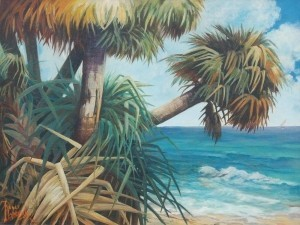 Harcombe, Rene. Miami, 1962. Oil on canvas, 30 by 40 inches.