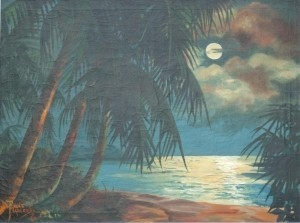 Harcombe, Rene. Miami. 1962. Oil on canvas, 30 by 40 inches.