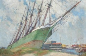 Hilder, Howard. Miami, 1924, The Rose Mahon. Oil on canvas 31 by 47 inches.