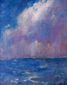 Hilder, Howard. Storm. Oil on board, 10 by 12 inches.