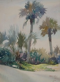Hilton, Harold. Jacksonville. Watercolor, 10 by 13 one half inches.