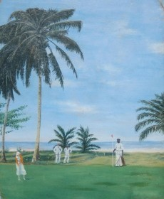 Humeston, F. L.  Golf, Miami Beach, 1922. Oil on board, 16 by 20 inches.