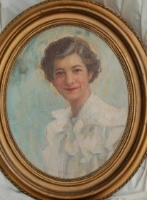 Hutchens, Frank Townsend. Annie Mae Ferrell Murphy of Tallahassee, 1934. Oil on board, 13 by 16 inches.