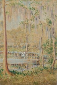 Jerrome, Lu Halstead. Orlando. Oil on board, 6 one half by 9 and three quarters inches.