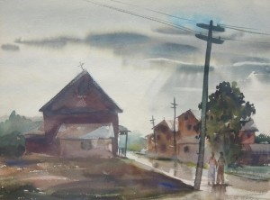 Klinkenberg, John.  Miami. Watercolor, 14 by 19 inches.