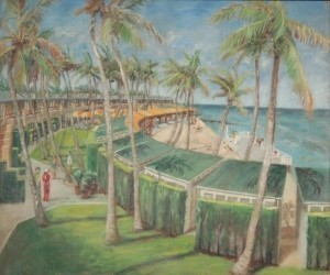 Koeffler. M. Muntz. Boca Raton Club. Oil on  canvas, 20 by 24 inches.