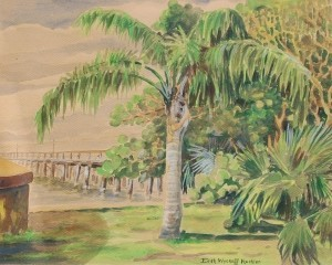 Kuchler, Edith Wyckoff. Clearwater. Watercolor, 14 and one half by 18 inches.