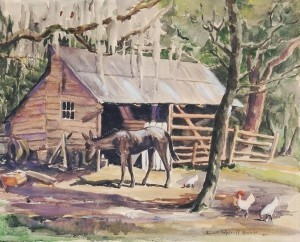 Kuchler, Edith Wyckoff. Deep South Democrat, 1949. Watercolor, 16 by 19 three quarters inches.