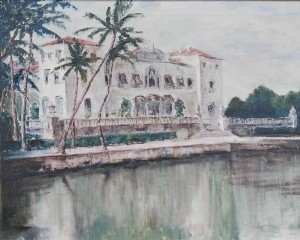Langford, John. Tampa. Viscaya. Oil on canvas, 24 by 36 inches.