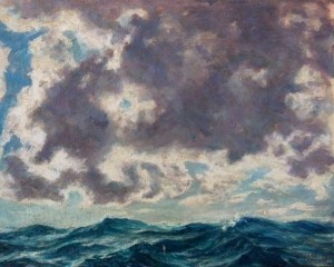 Leake, Gerald. Key West. Oil on board, 16 by 20 inches.