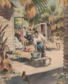 Leech, Dorothy Sherman. Sarasota. Watercolor, 13 one half by 16 one half inches.