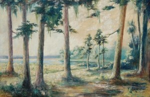 Luke, Anna E., Pines on Palma Sola Bay. Oil on canvan, 24 by 36 inches._