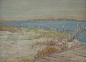 McKelvey, Ralph, Long Boat Island Above Sarasota, 1931. Oil on board,  11 14 by 15 inches.