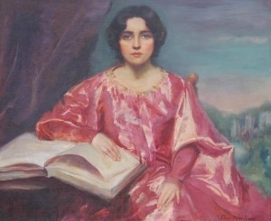 McWilliams, Eloise. Day Dreams, Girl With a Book. Oil on canvas, 30 by 36 inches.  Exhibited Florida Federation of Art, 19th Annual, Miami Beach, December 7, 1945.