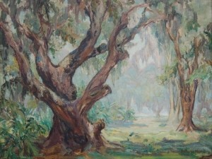 Merrill, Katharine Jungle Monarch, oil on canvas, 19 by 24 34 inches.