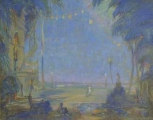 Paist, Phineas E. Coral Gables. Oil on board, 48 by 60 inches.